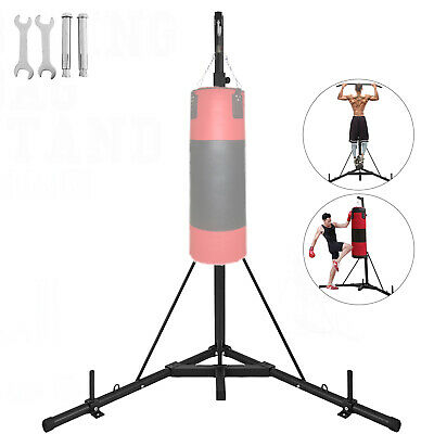top punching bag stand with pull up bar