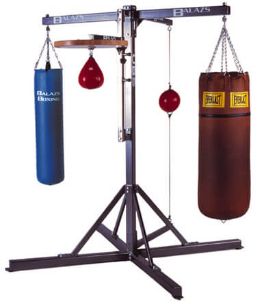 Types of Heavy Bag Stands - Dual Station Heavy Bag Stand