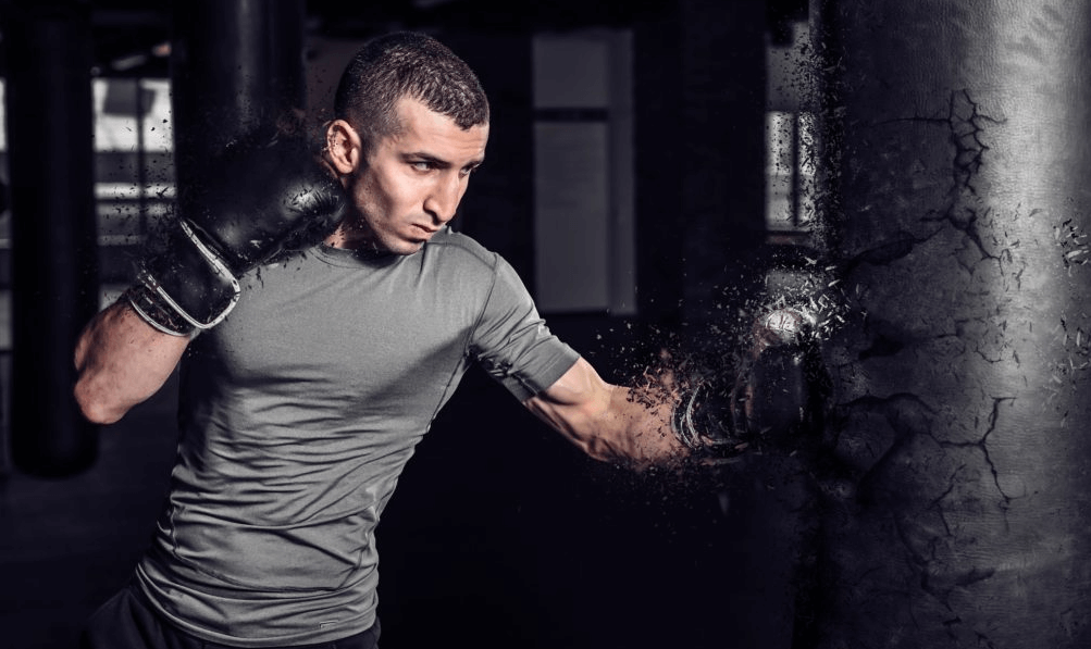 Power punching helps boxers in building muscles without lifting weights