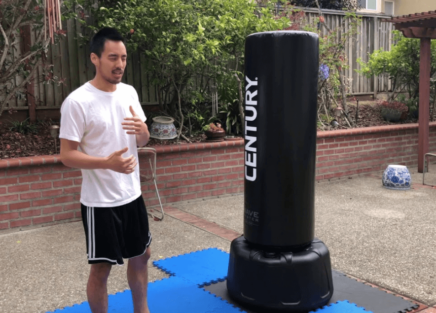 using a heavy bag without hanging it